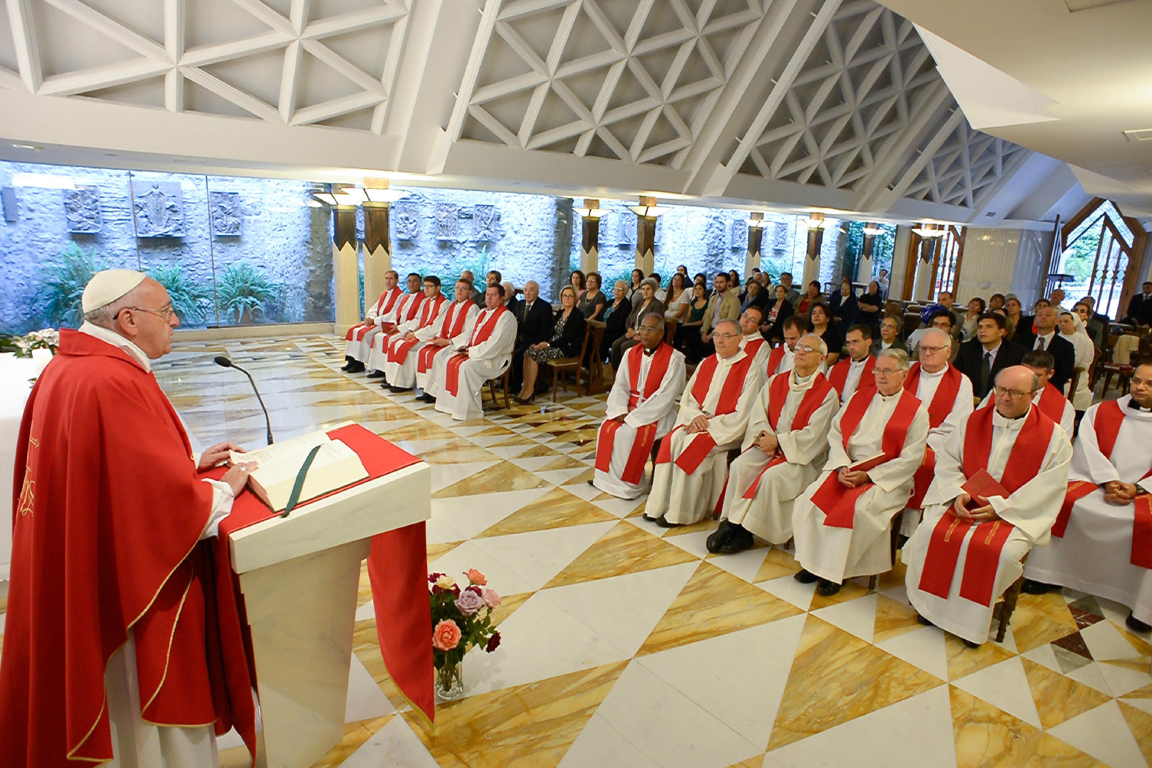 Misa en Santa Marta (foto archivo © Osservatore Romano)