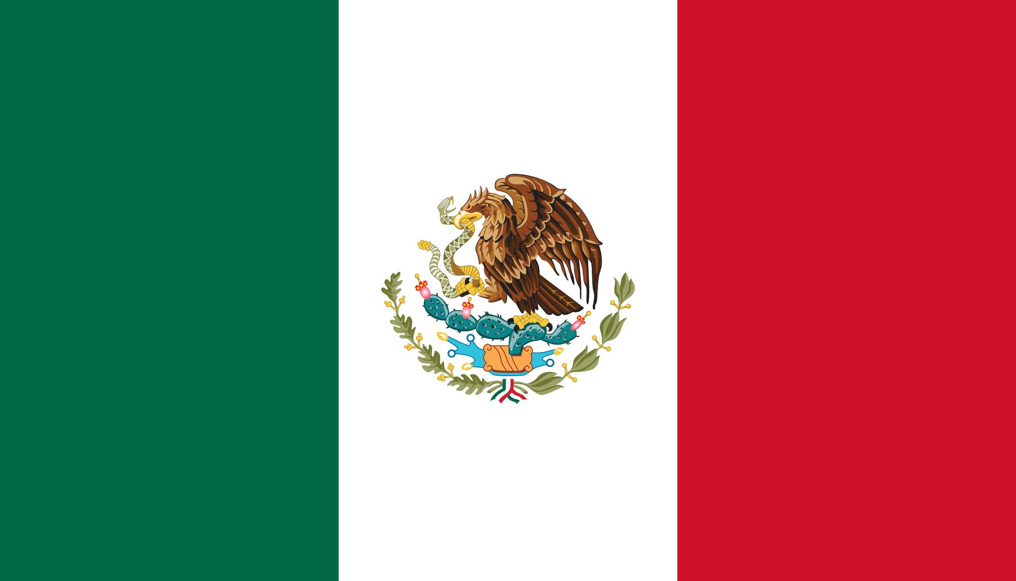 Bandera de México. Wikimedia Commons