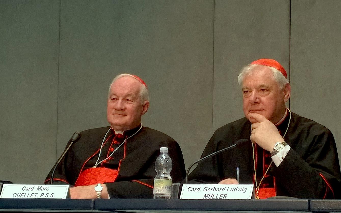 Los cardenales Muller y Outellet