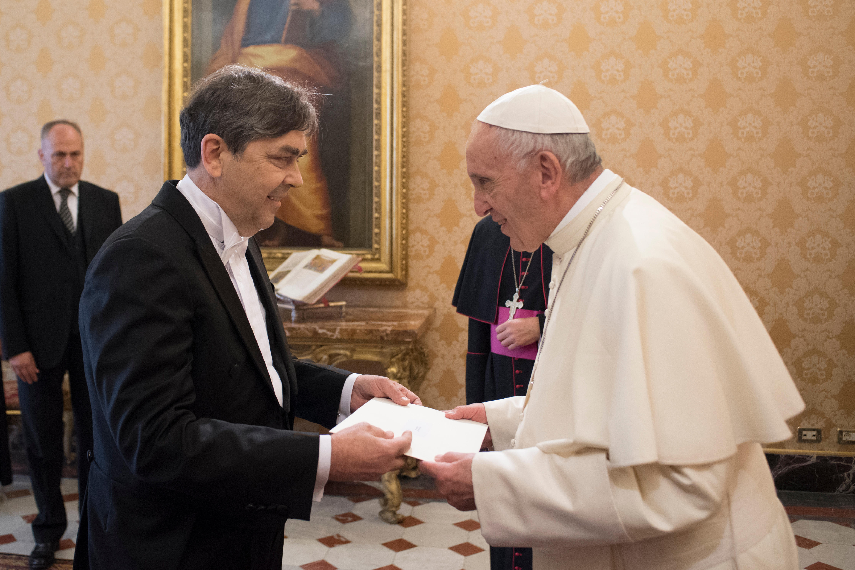 El Papa y Dejan Šahović © L´Osservatore Romano