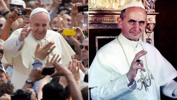 Francisco y Pablo VI © Vatican Media