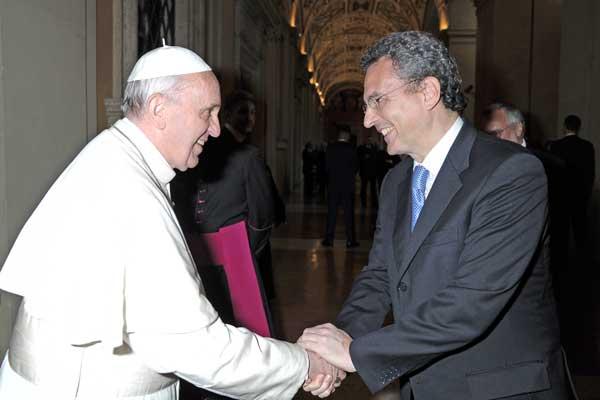 Papa Francisco y Marco Impagliazzo © L'Osservatore Romano