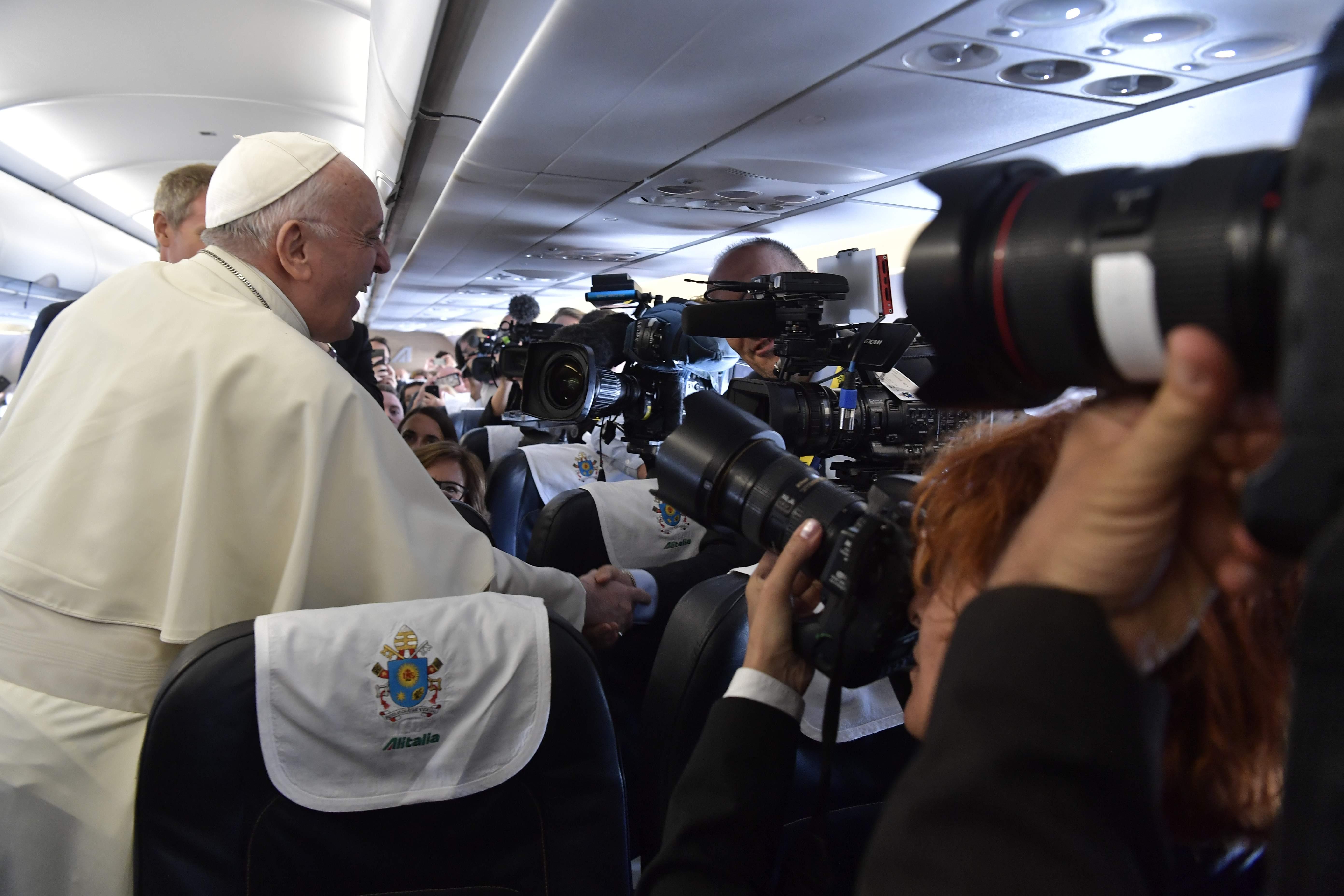 Vuelo papal a Dublín, 25 agosto 2018 © Vatican Media