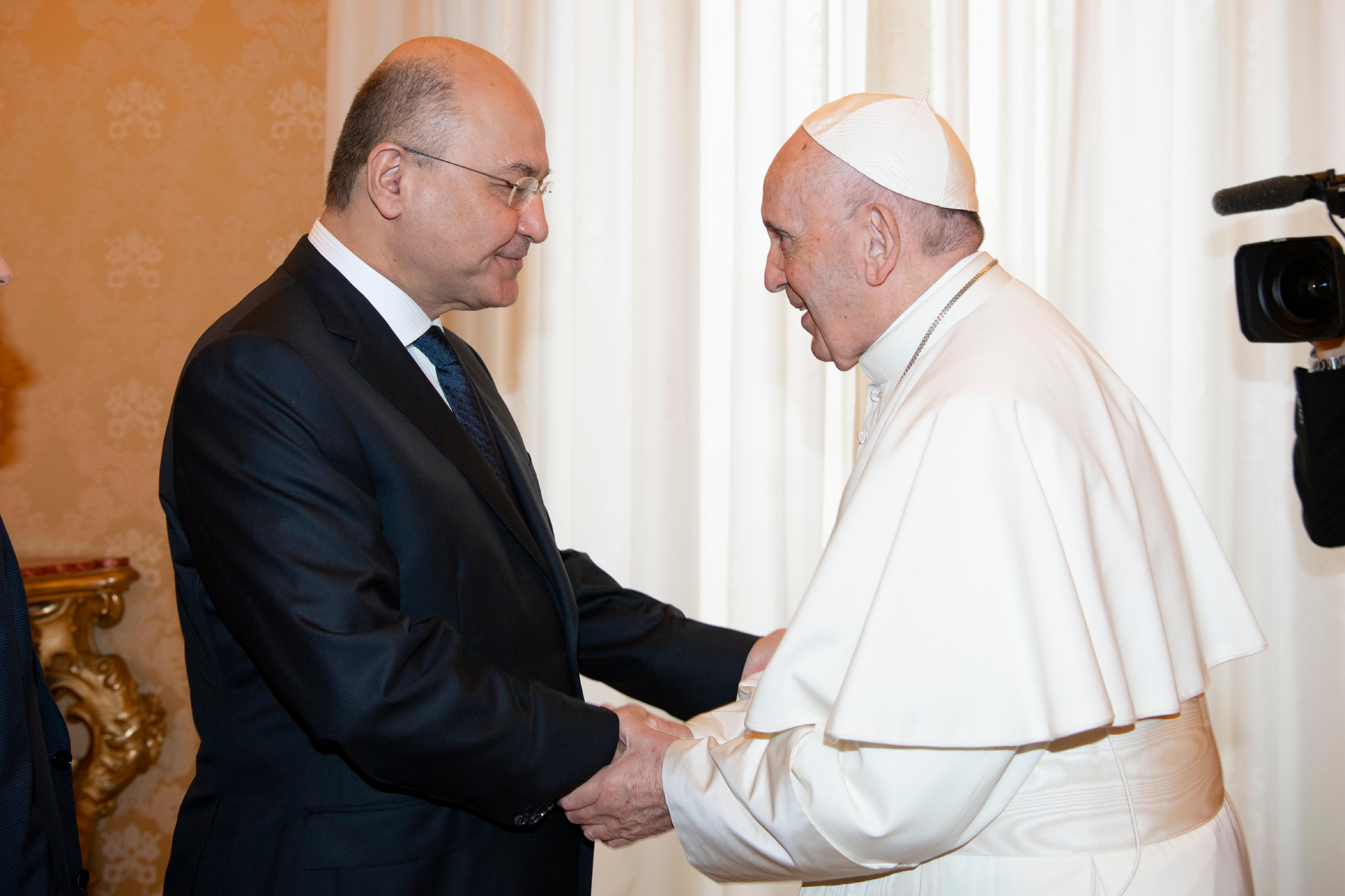 El Papa recibe al Presidente de la República de Iraq © Vatican Media