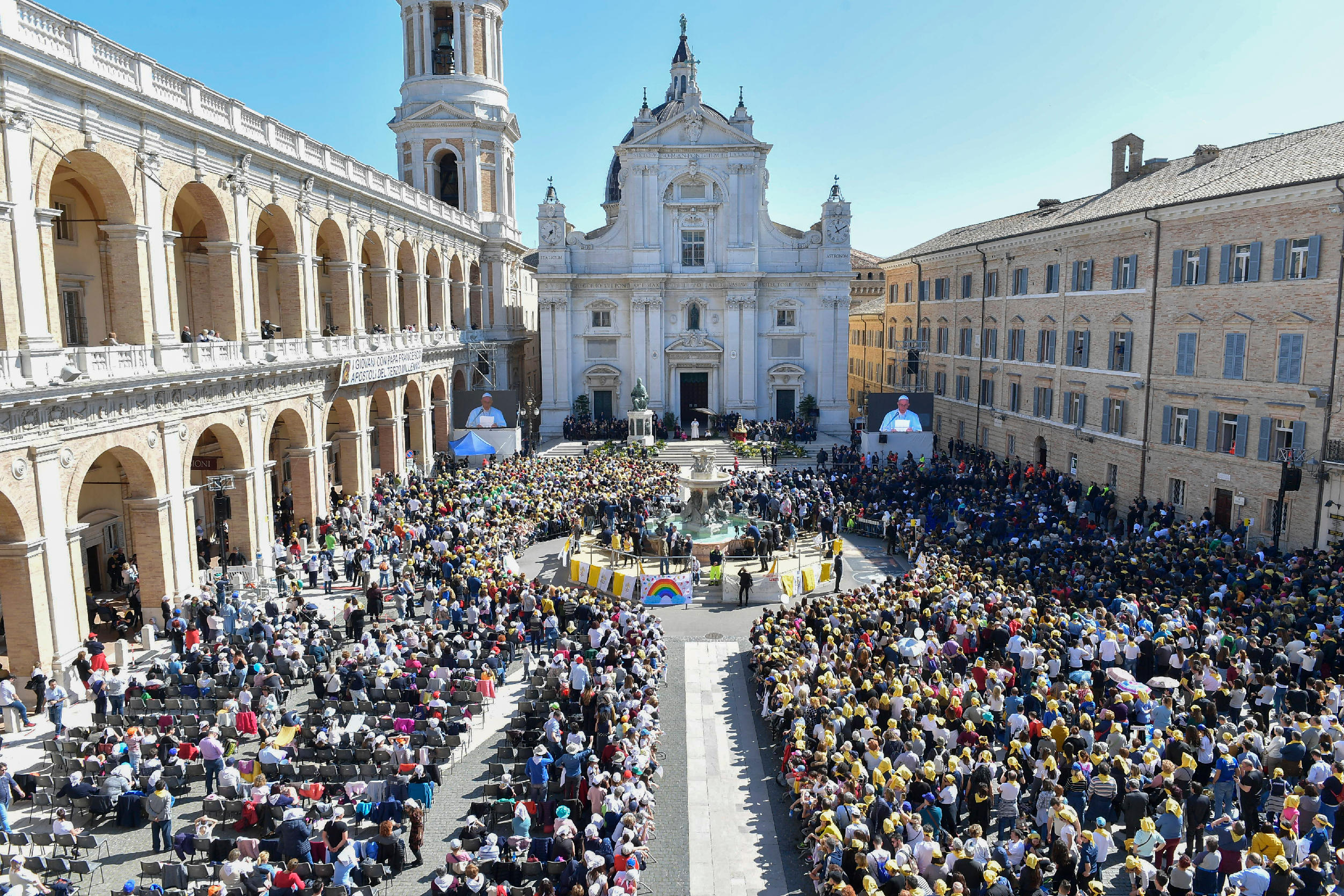 El Papa visita Loreto en la fiesta de la Anunciación del Señor © Vatican Media