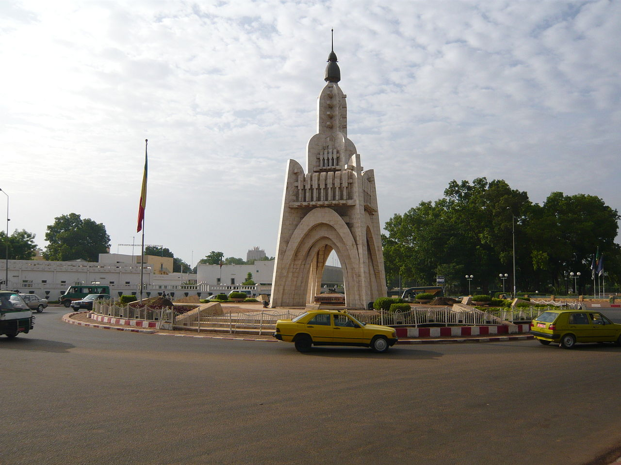 A monument commemorating Mali's independence from France