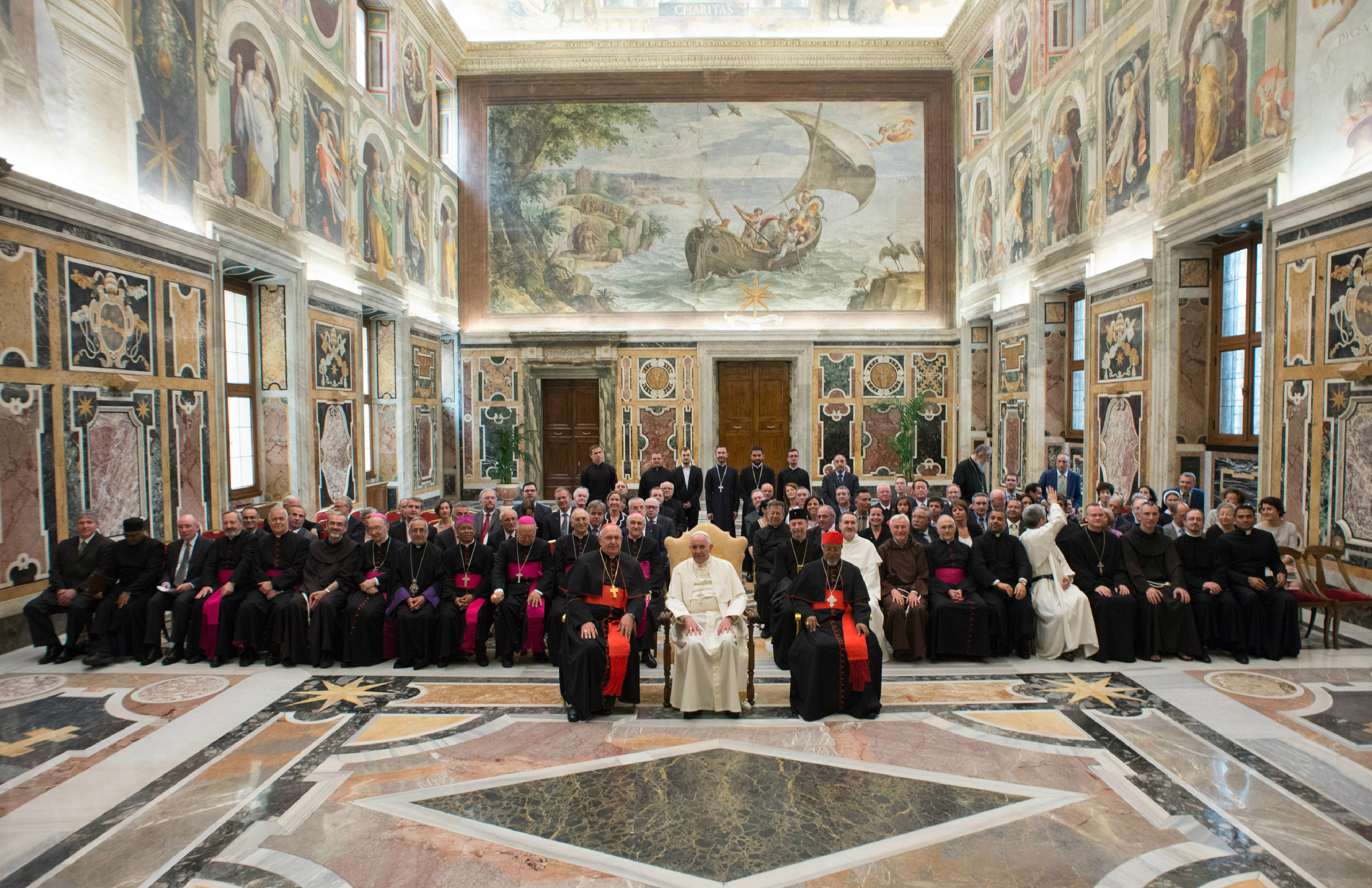 Pope Francis meets with Aid Agencies for the Eastern Catholic Churches (ROACO)