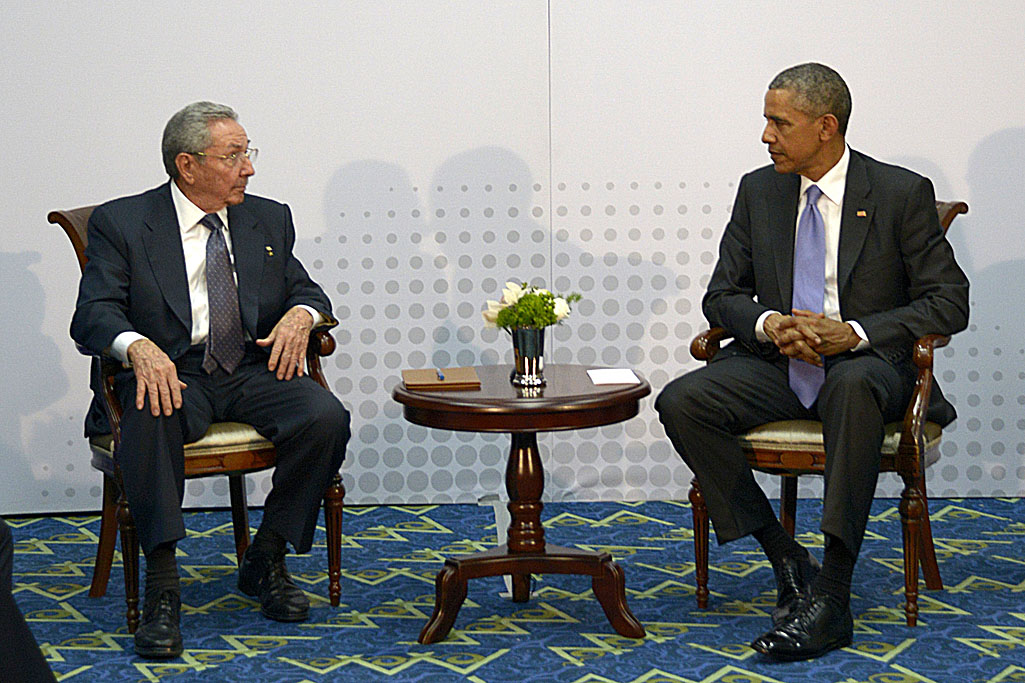 Bilateral meeting between Barack Obama and Raul Castro