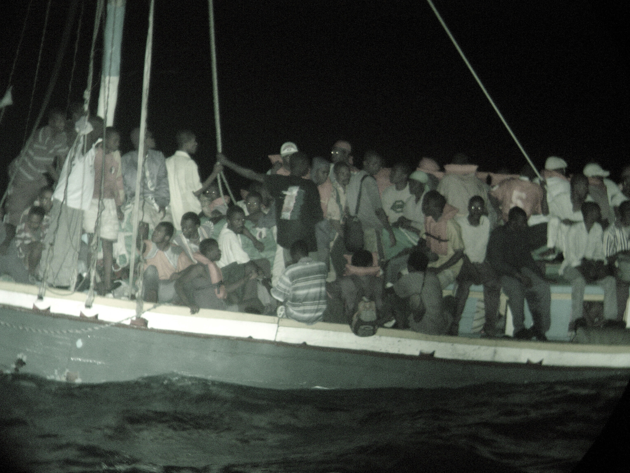 Boat people from Haiti