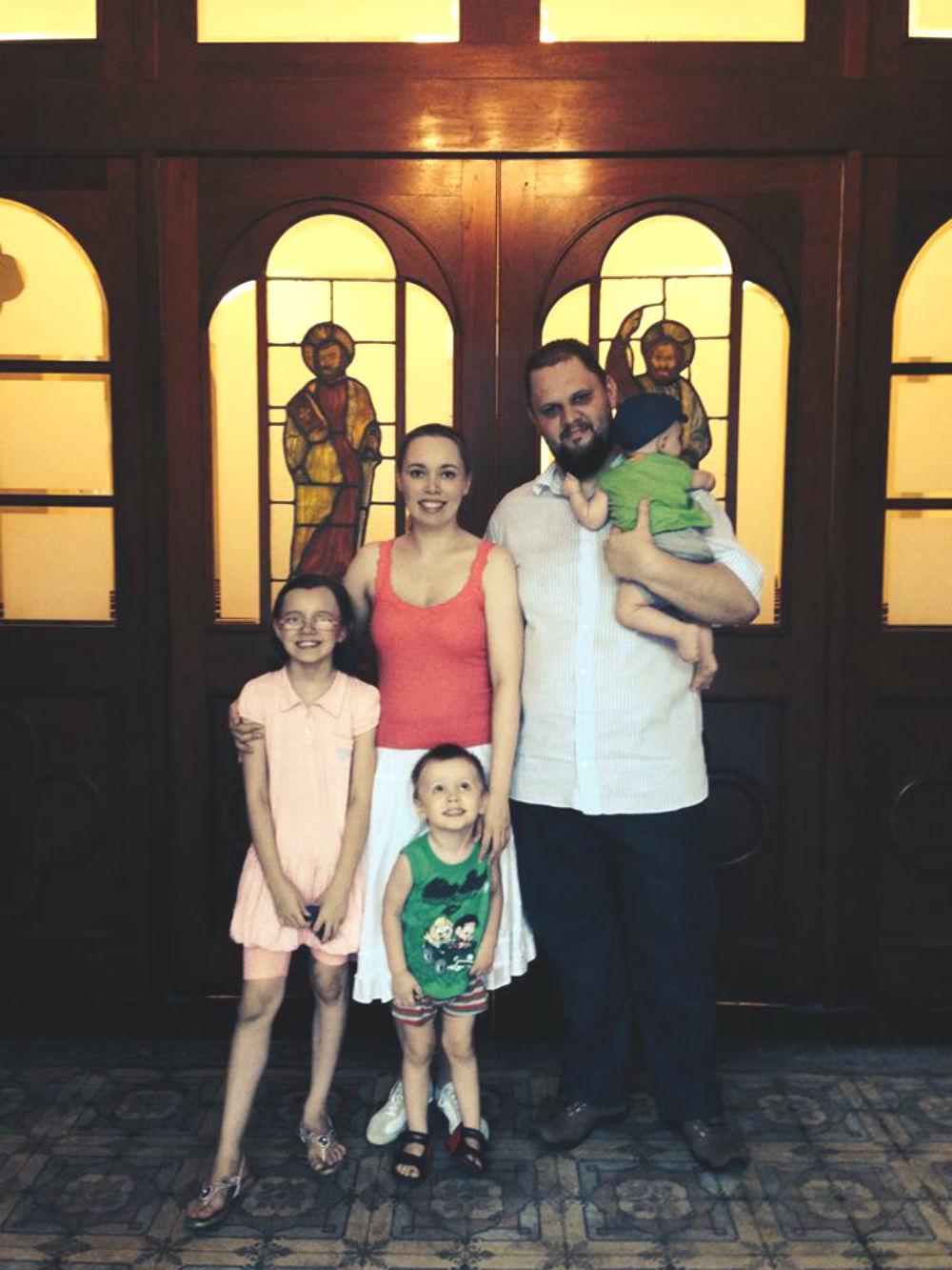 Camila Abadie e família