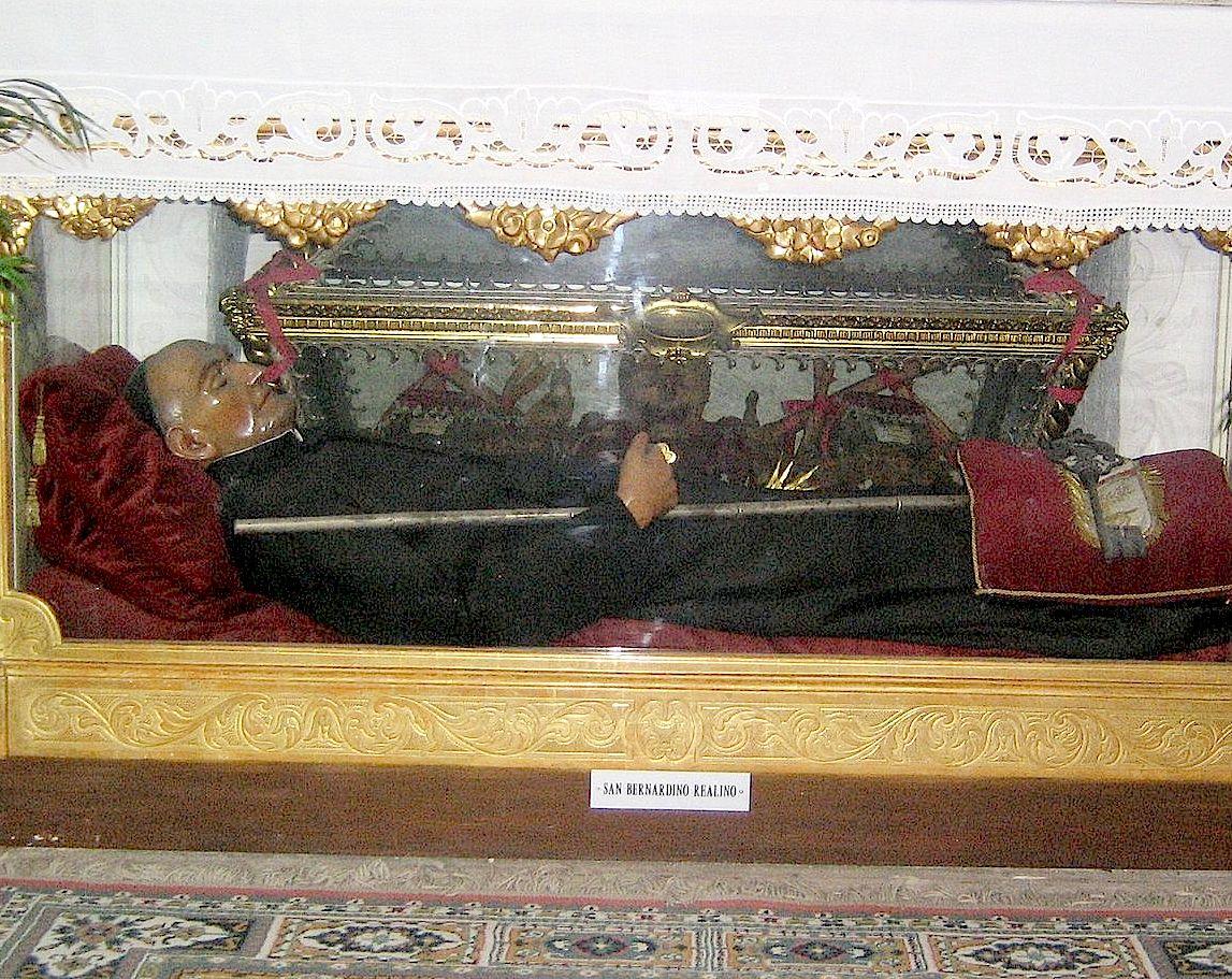 Relics of San Bernardino Realino in Lecce city