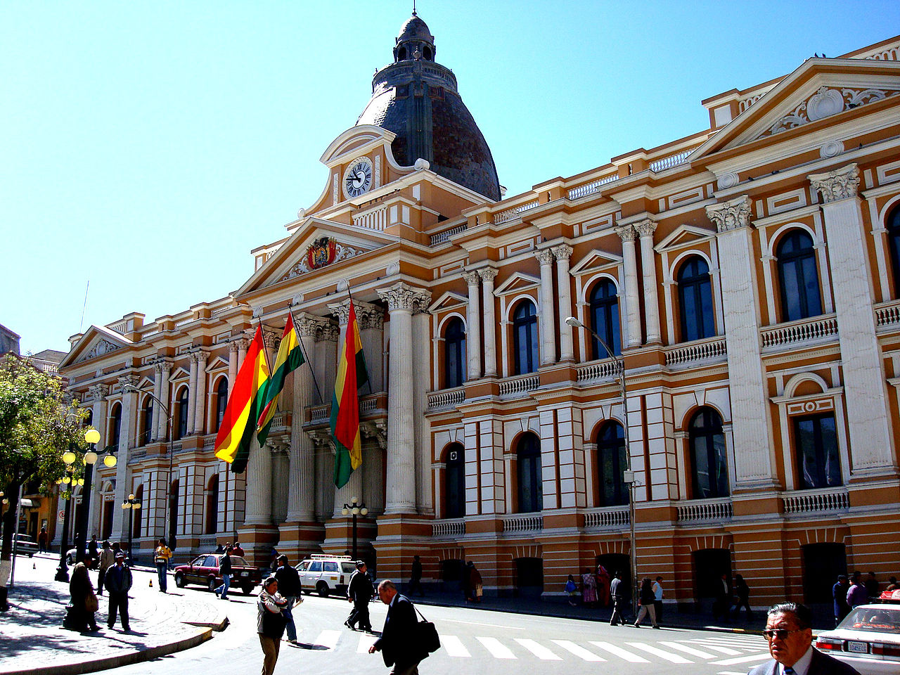 Government Palace of Bolivia in downtown La Paz