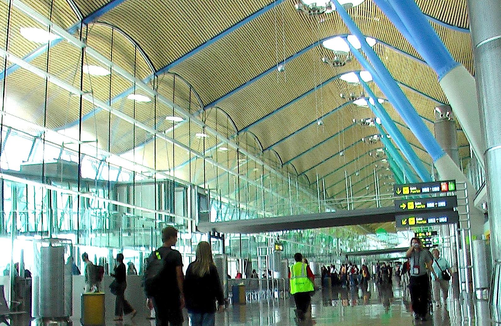Barajas airport in Spain