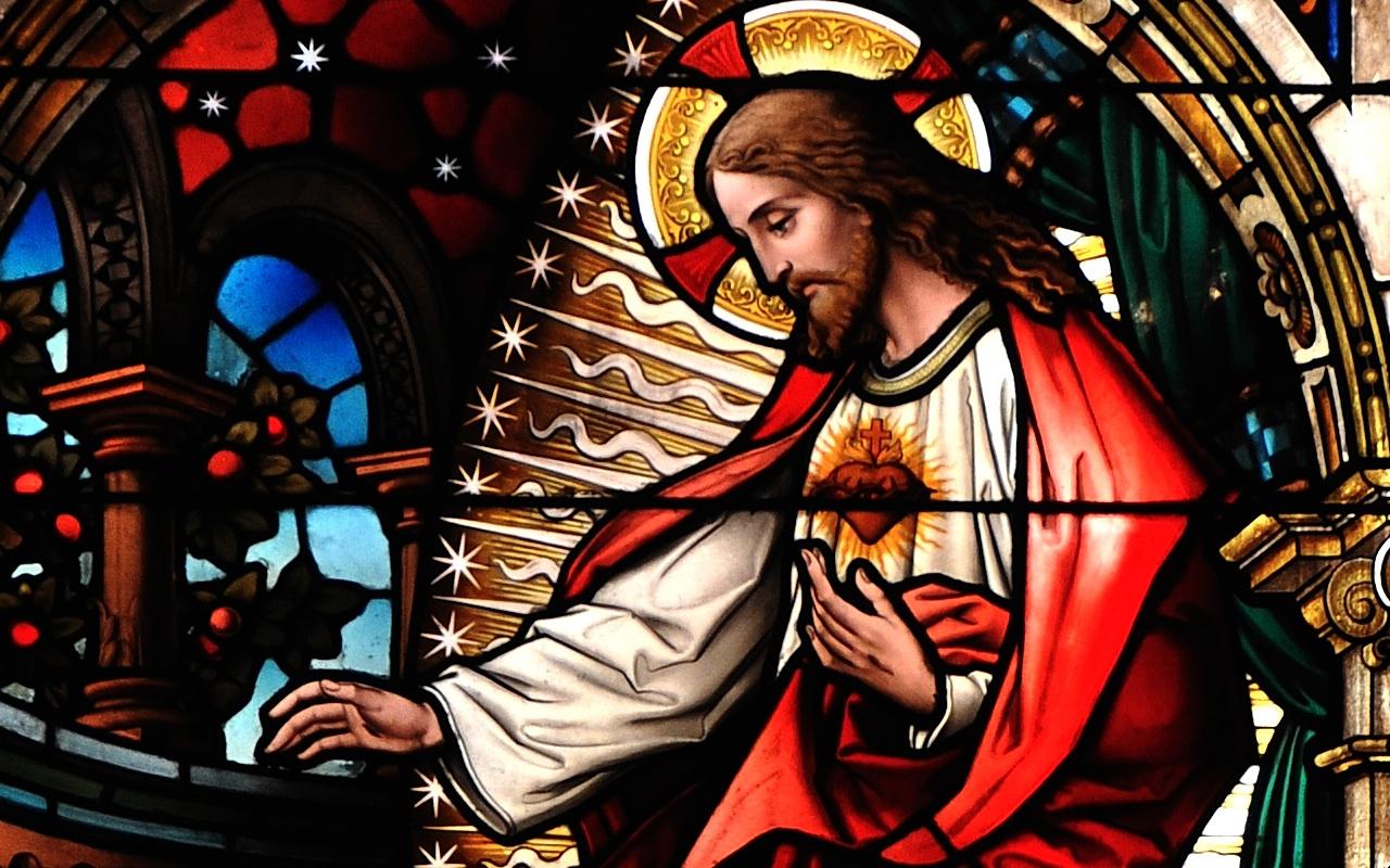 Vitral del Sagrado Corazón (San Gioacchino in Prati, Roma. © Foto ZENIT cc).