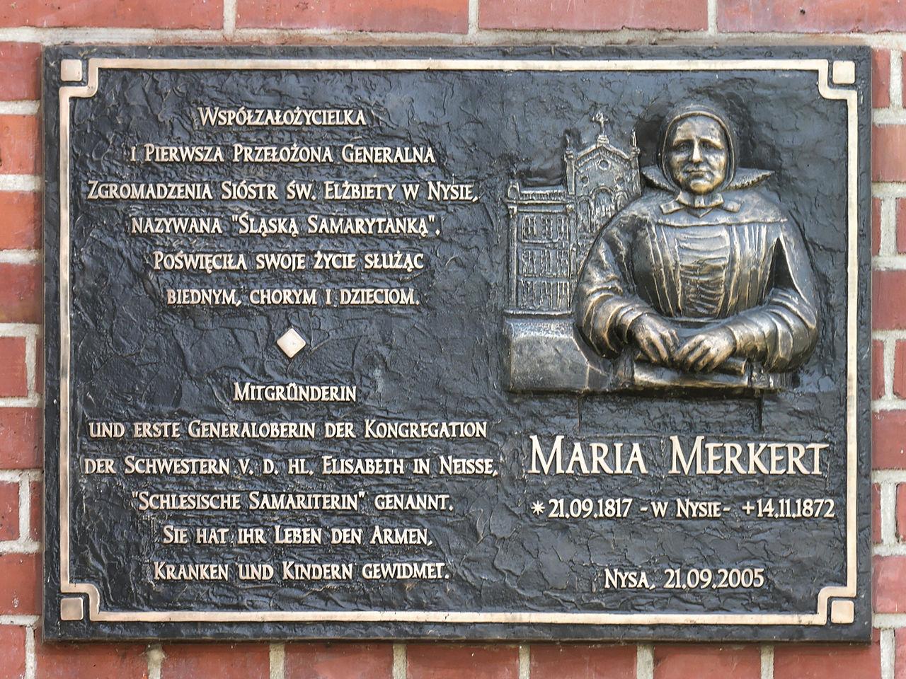Placa en honor de Mary Merkert en Niza