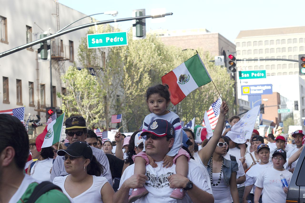 Mexican immigrants march for more rights in Northern California's largest city