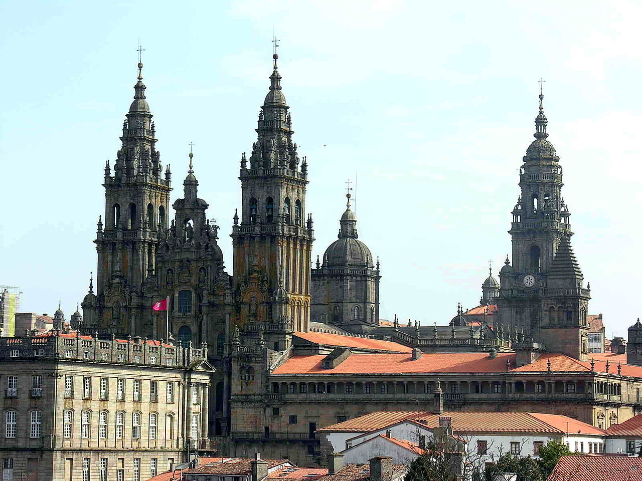 Overview of the Santiago de Compostela Cathedral