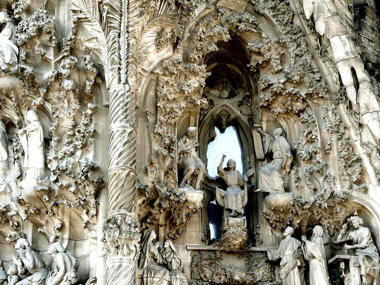 The Nativity façade of the Basilica and Expiatory Church of the Holy Family