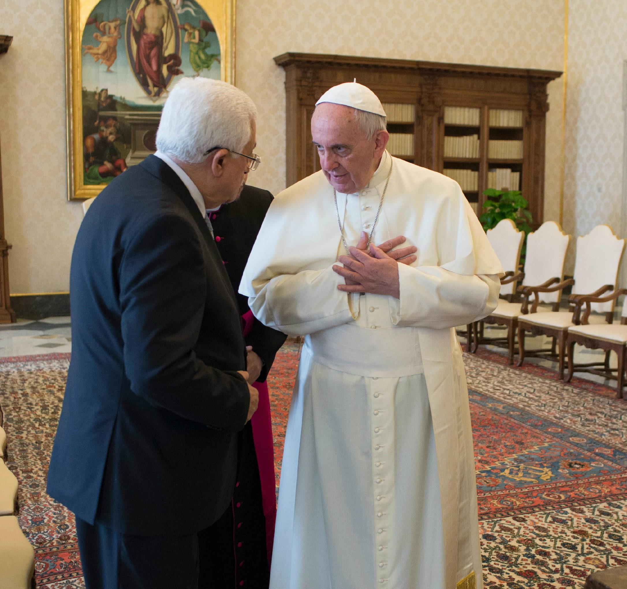 El Papa recibe al presidente palestino (Foto archivo Osservatore © Romano)