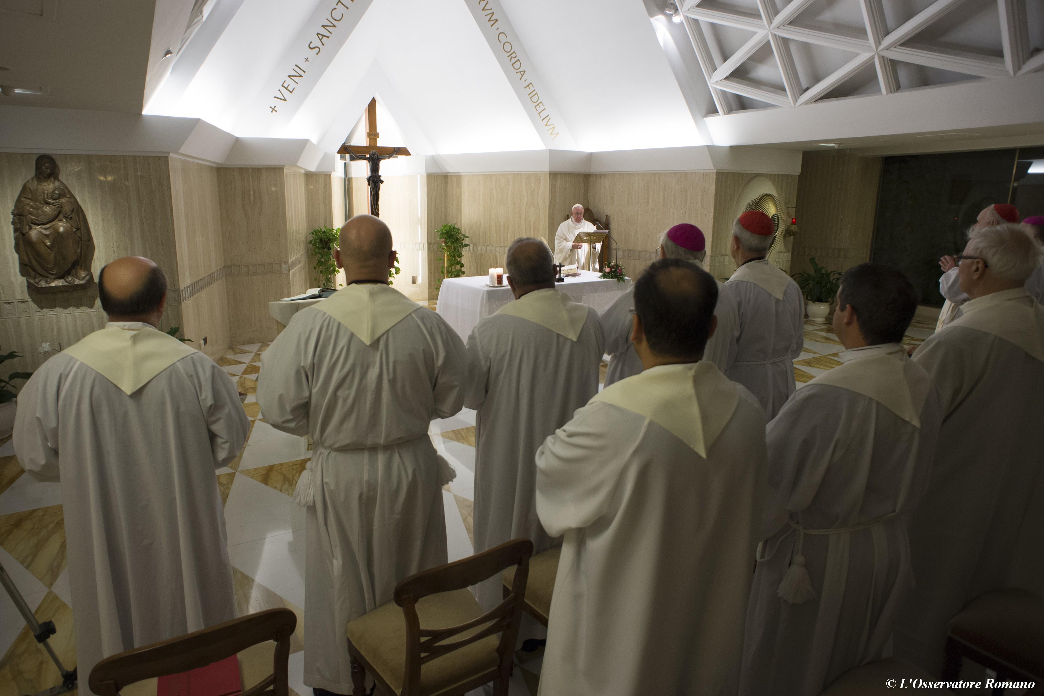 Morning Mass in the Domus Sanctae Marthae