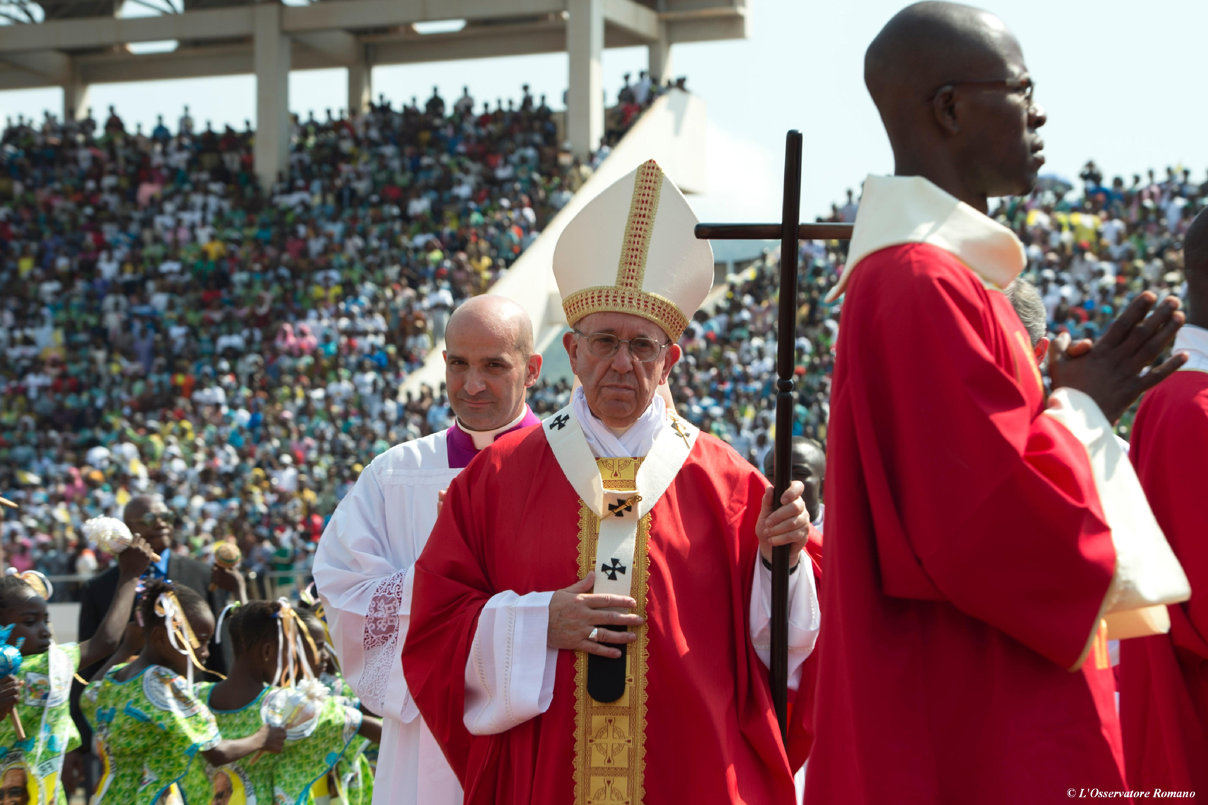 Papal Mass at Bangui's Barthélémy Boganda Stadium