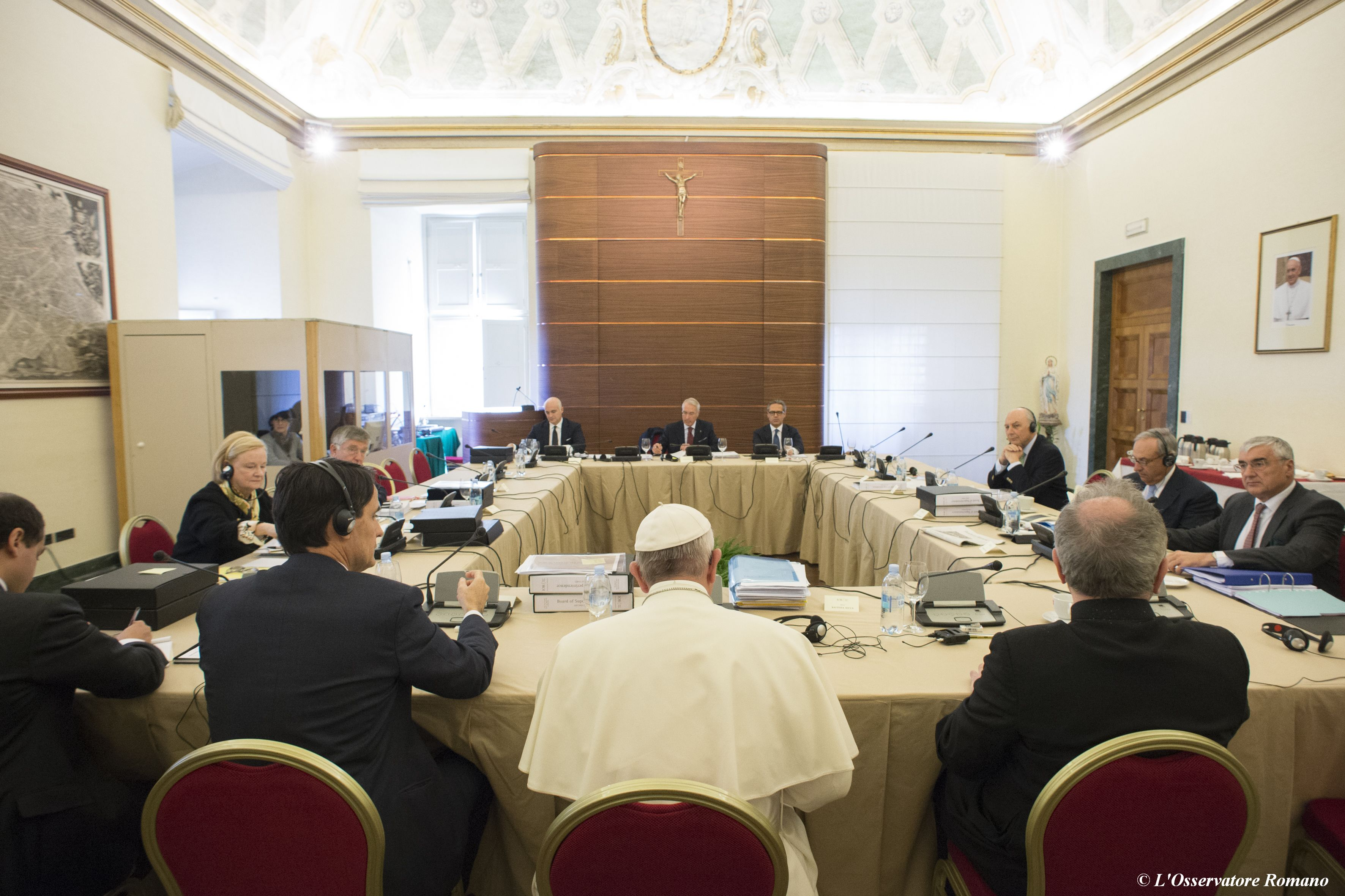 Pope Francis at the IOR