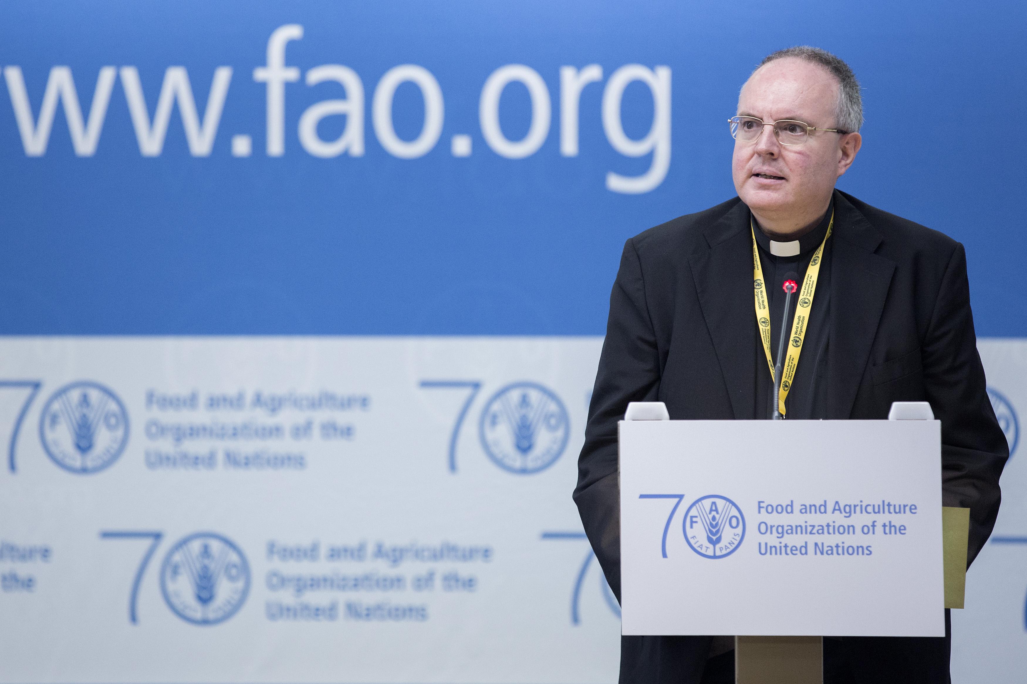 Mons. Chica en la FAO (Alessia Pierdomenico)