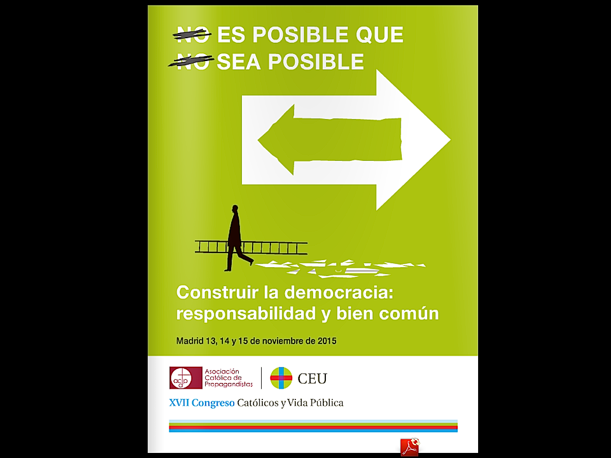 """Poster of the 17th Congress """"Catholics and Public Life"""""""