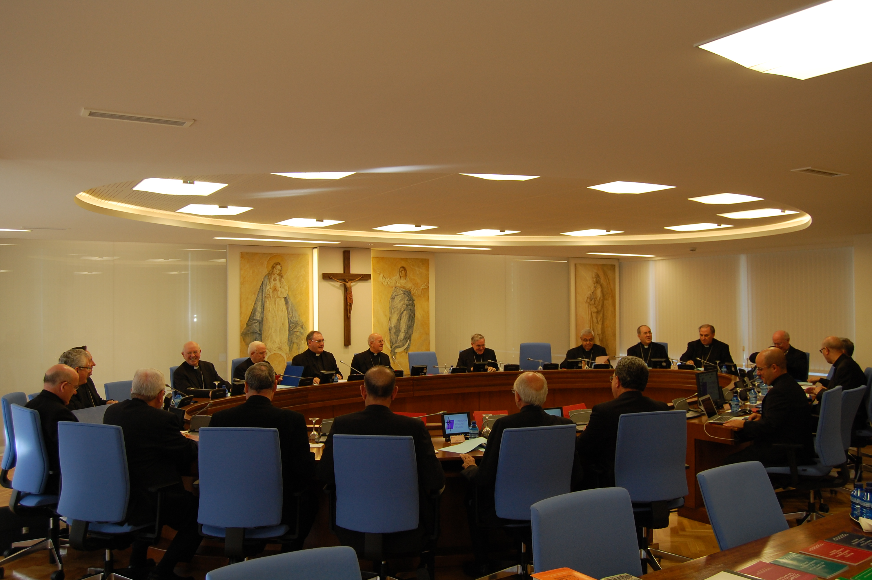 Members of the Permanent Commission of the Spanish bishops' conference