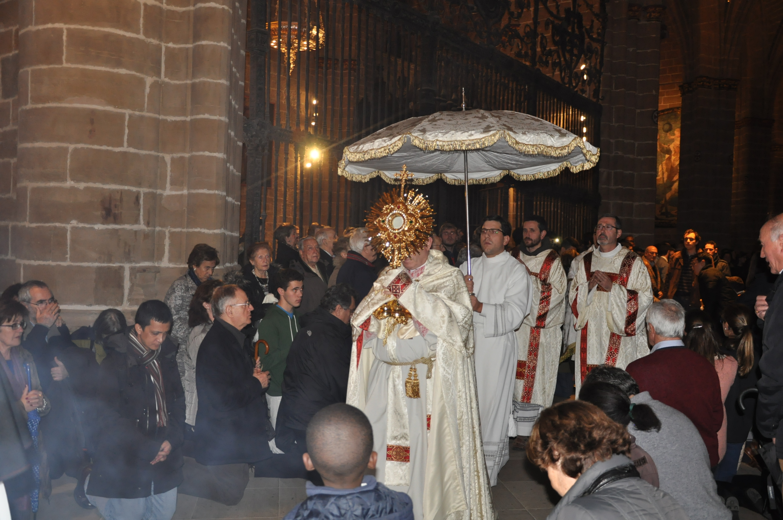 Mass of reparation in Pamplona Cathedral