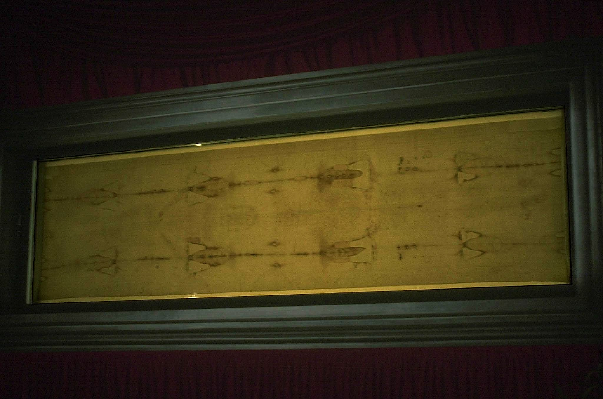 The Shroud exhibited in Turin Cathedral