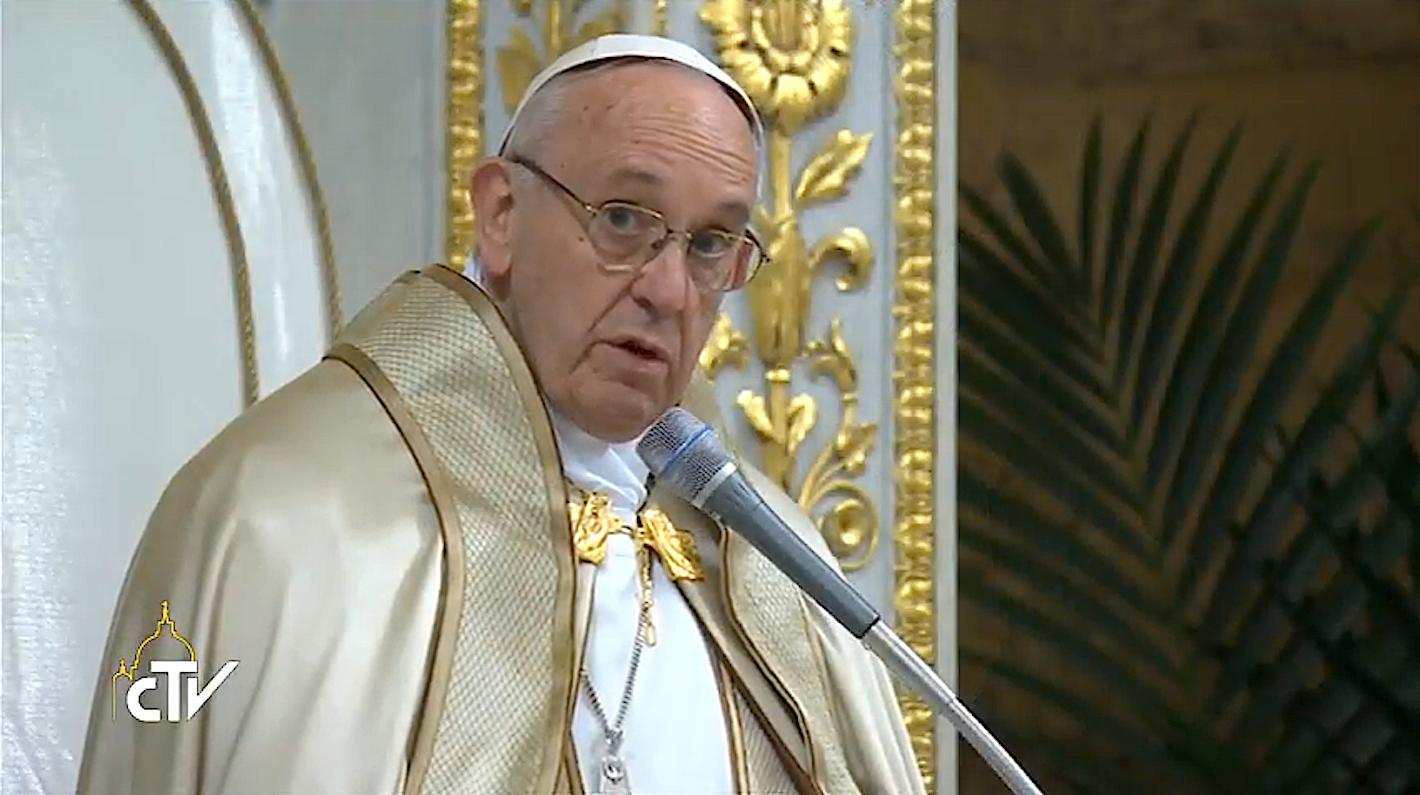 El Papa en la en la basílica de San Pablo Extramuros
