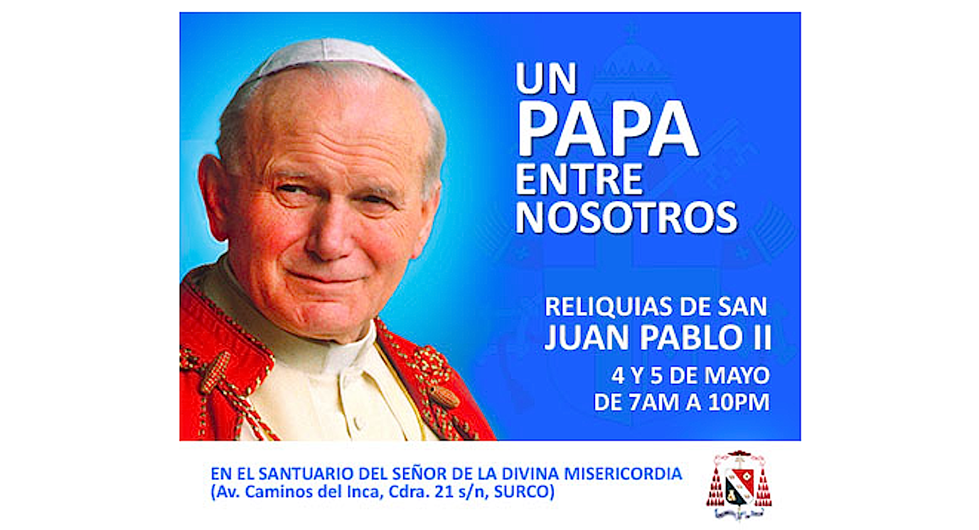 The relics of St. John Paul II visit Lima