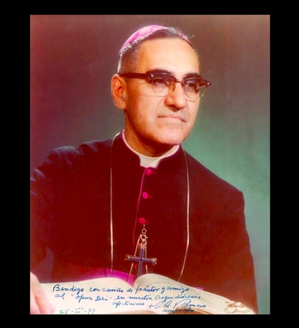 Autographed photo of Msgr. Romero