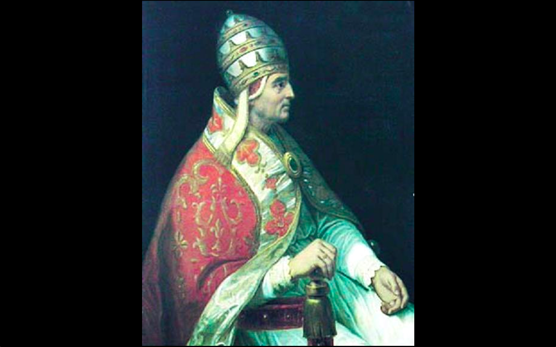 Portrait of pope Urban V