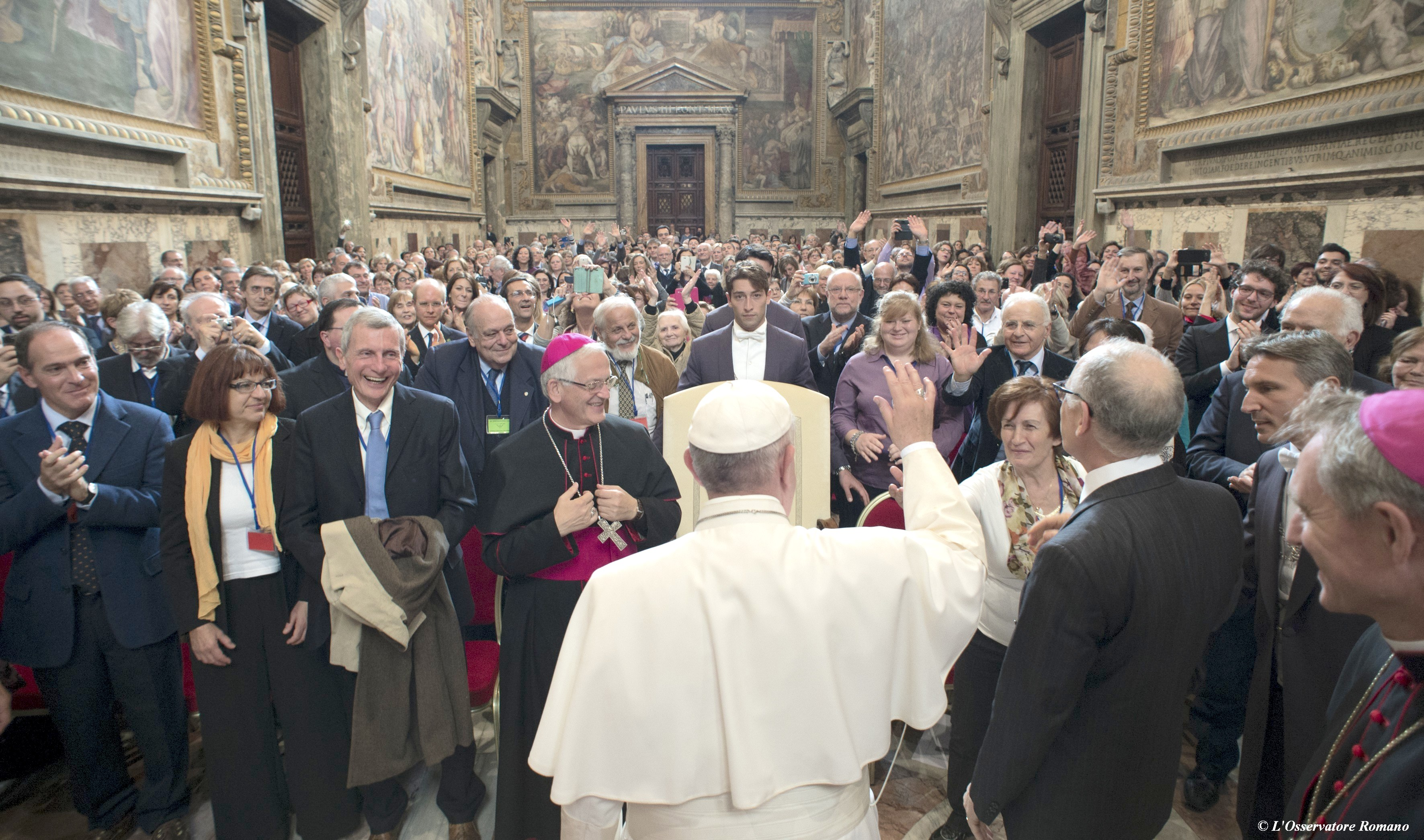 Pope Francis meets Pro-Life Movement supporters - 6 November 2015