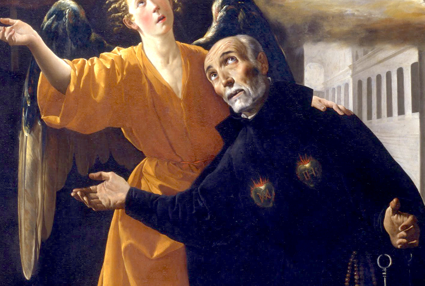 The vision of Beato Alonso Rodríguez - Paint of Zurbarn at Real Academia de Bellas Artes de San Fernando