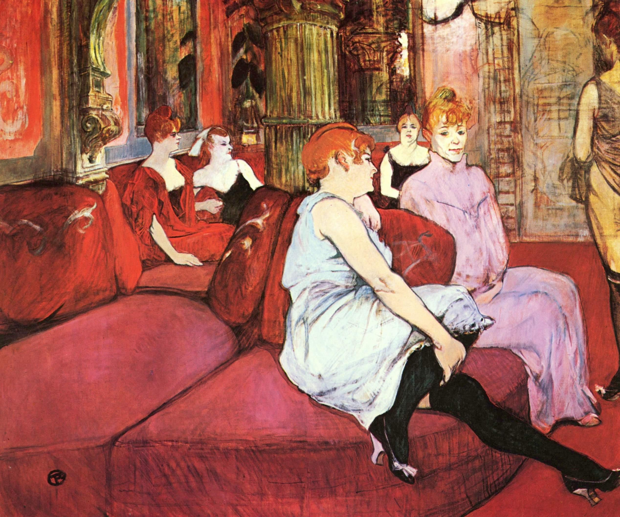 In Salon of Rue des Moulins.1894