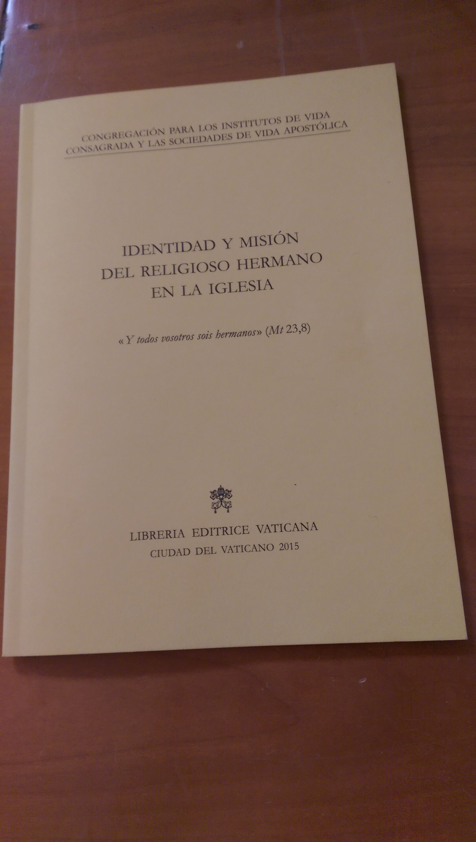 Document 'Identity and mission of the religious brother in the church'