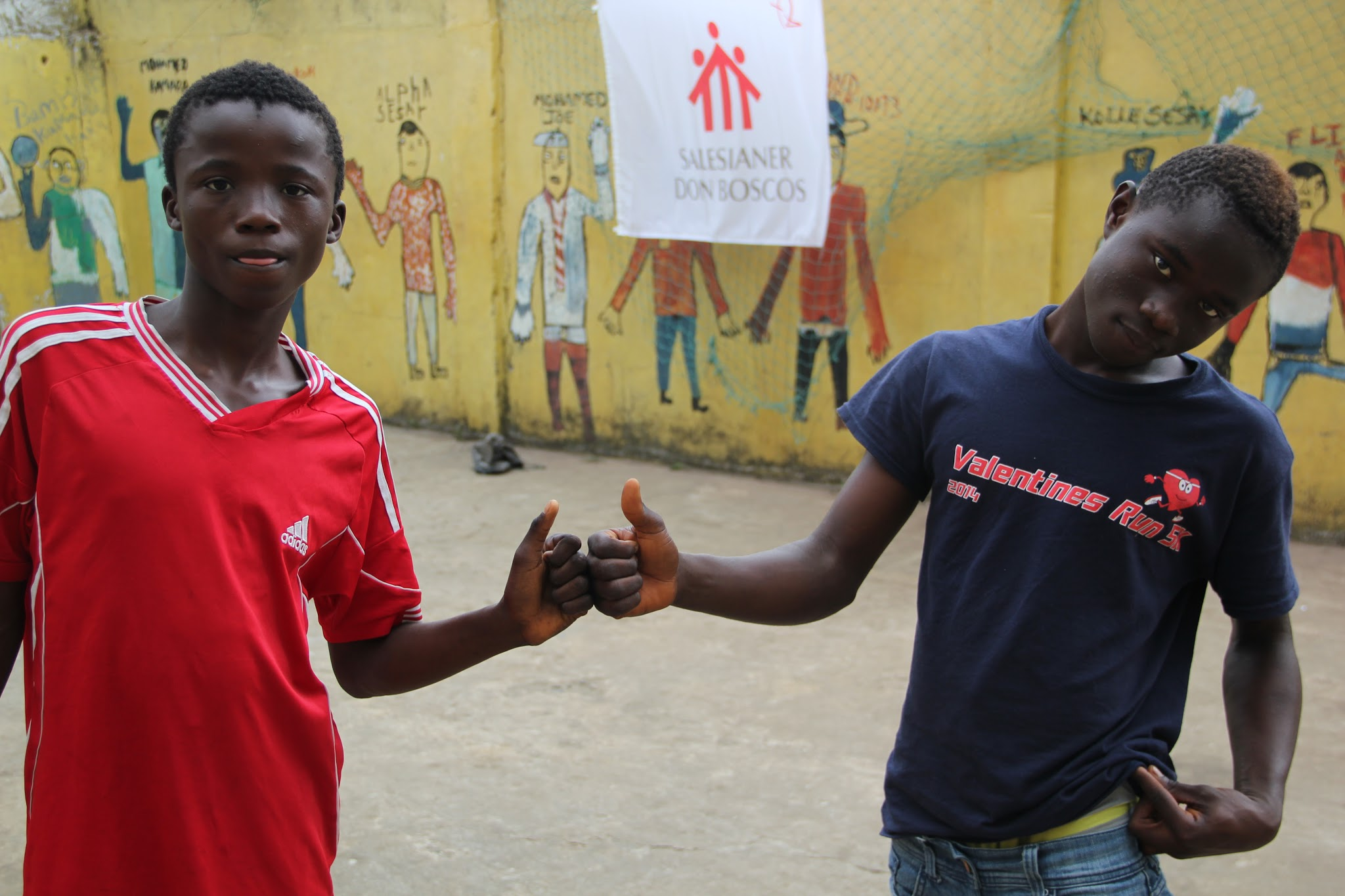 Salesian missionaries working with young people in Sierra Leone