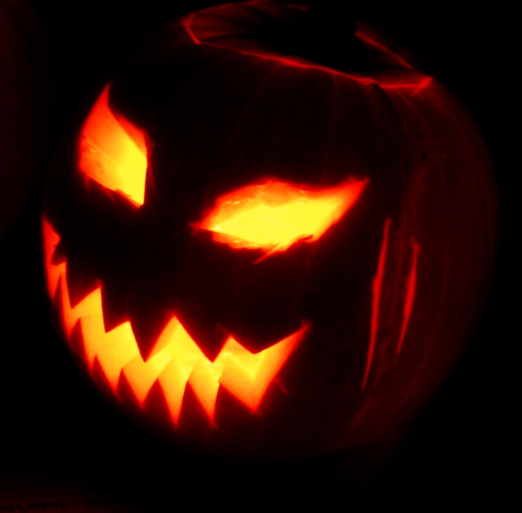 A Jack o' Lantern made for the Halloween celebrations in 2003