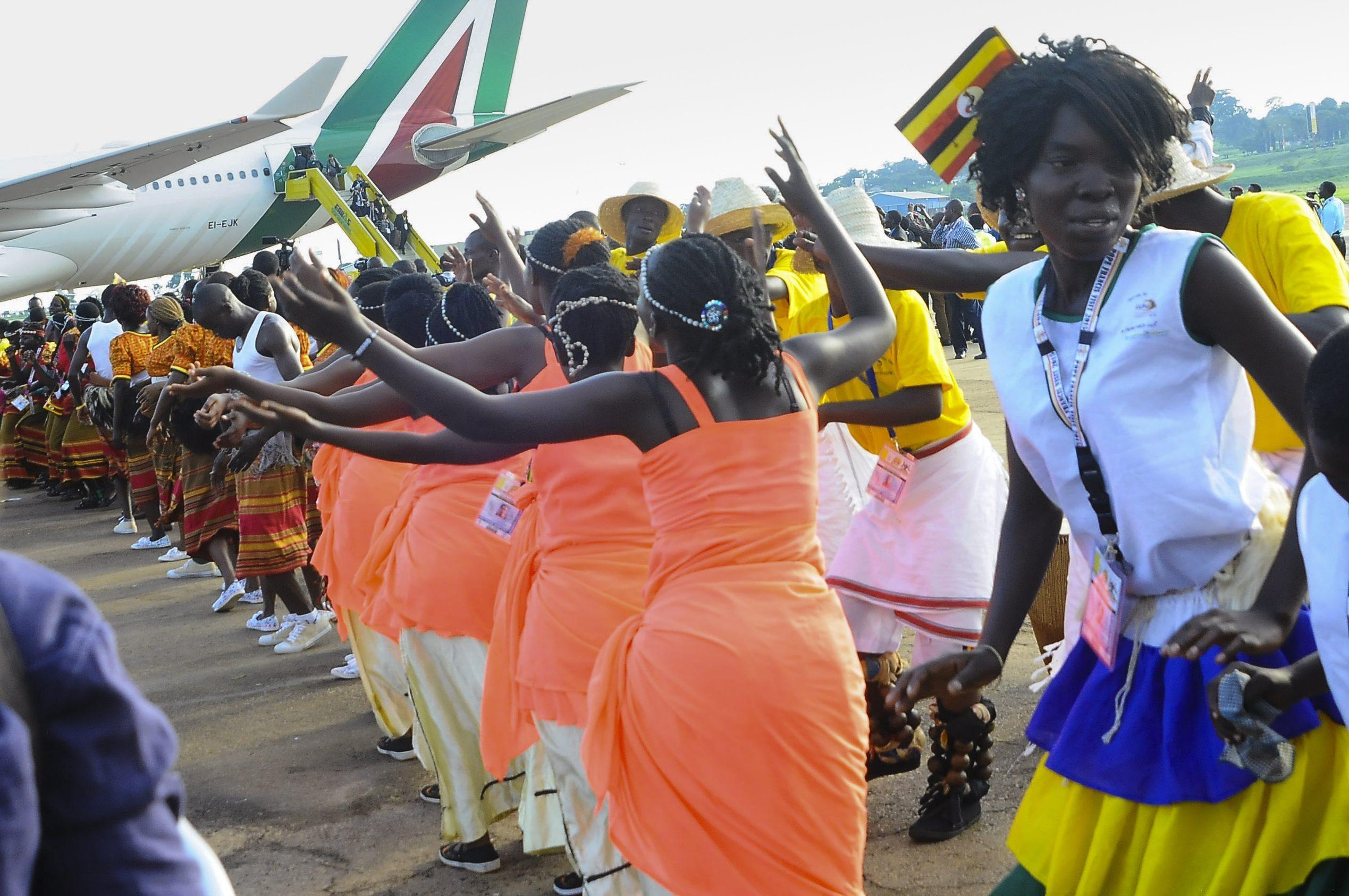 Welcome ceremony for Pope Francis at the International Airport of Entebbe