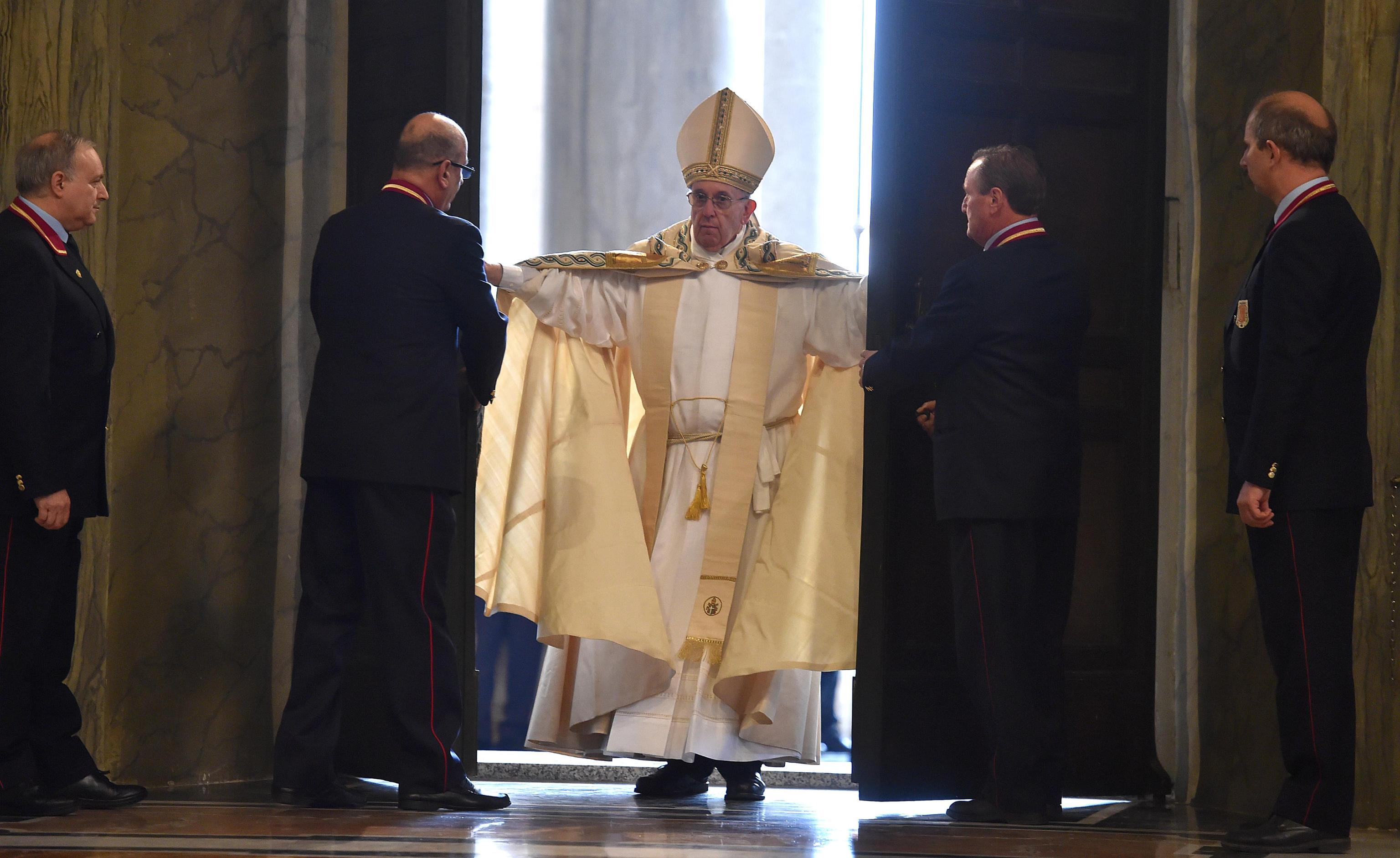 Pope Francis opens the Holy Door of Saint Peter's Basilica