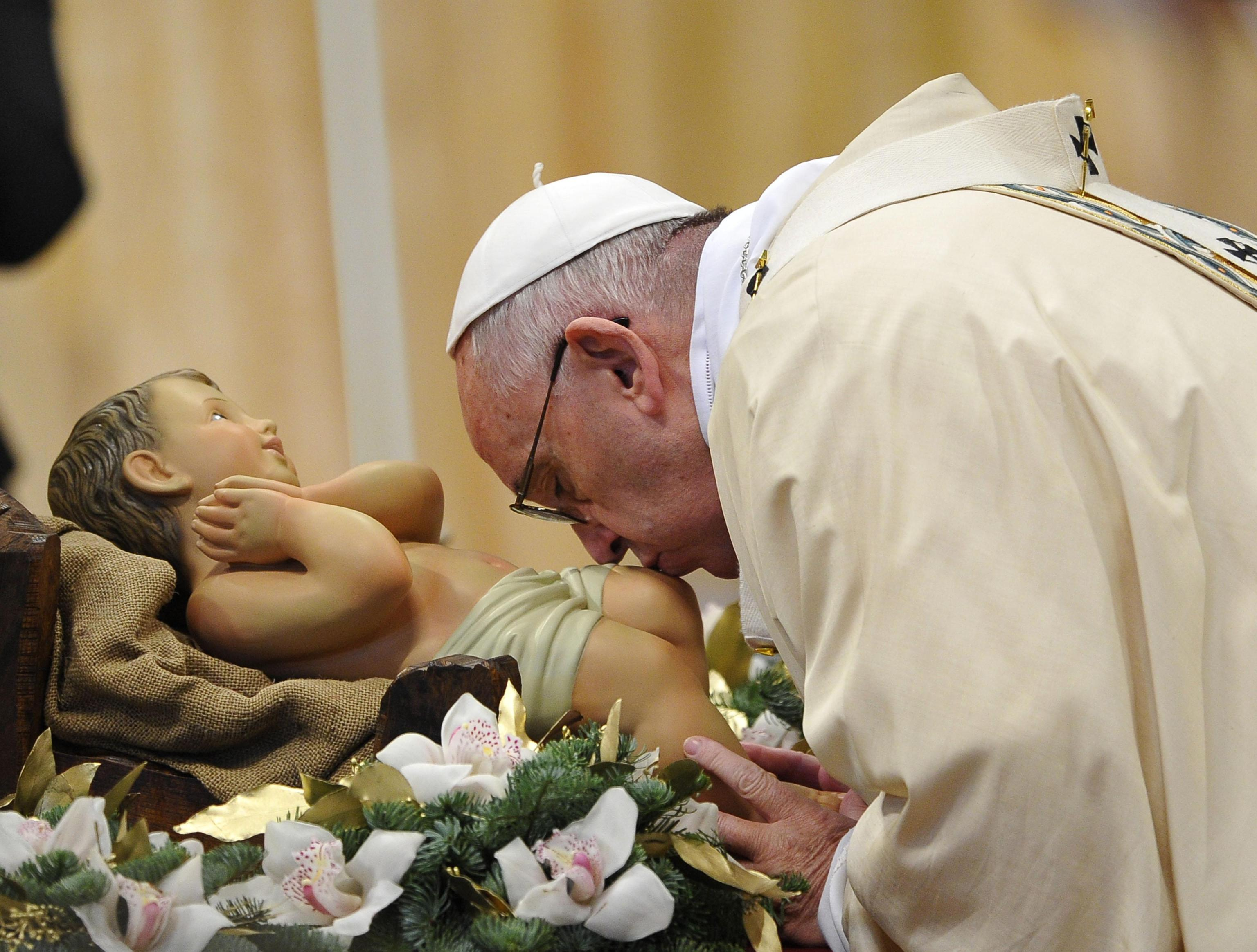 Pope Francis leads the Epiphany mass in Saint Peters Basilica