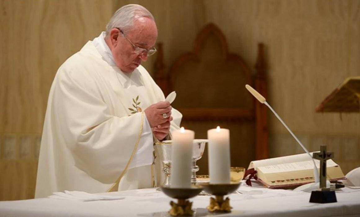 Pope Francis celebrating Mass at Casa Santa Marta - May 21st