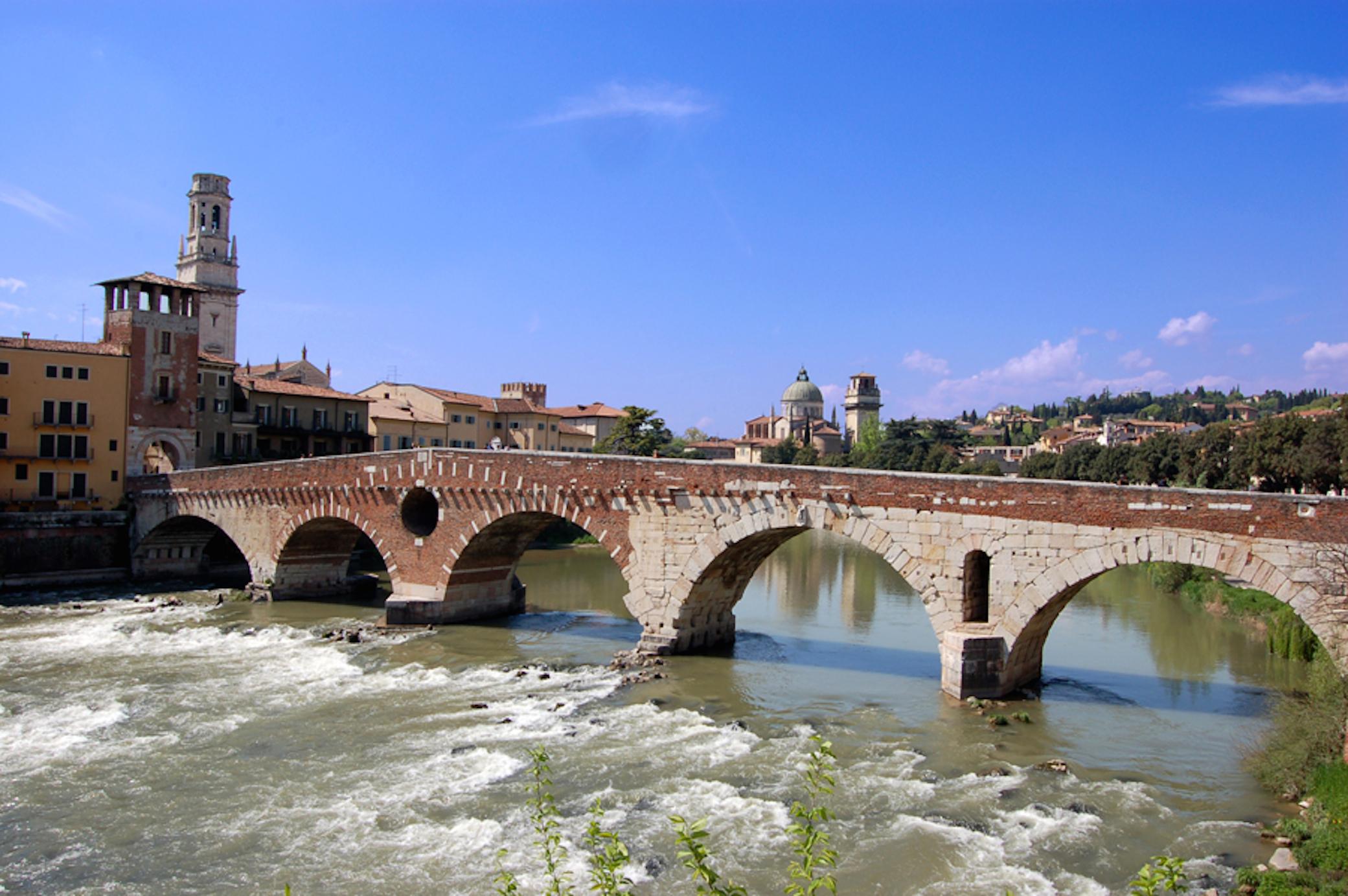 Verona bridge of stones