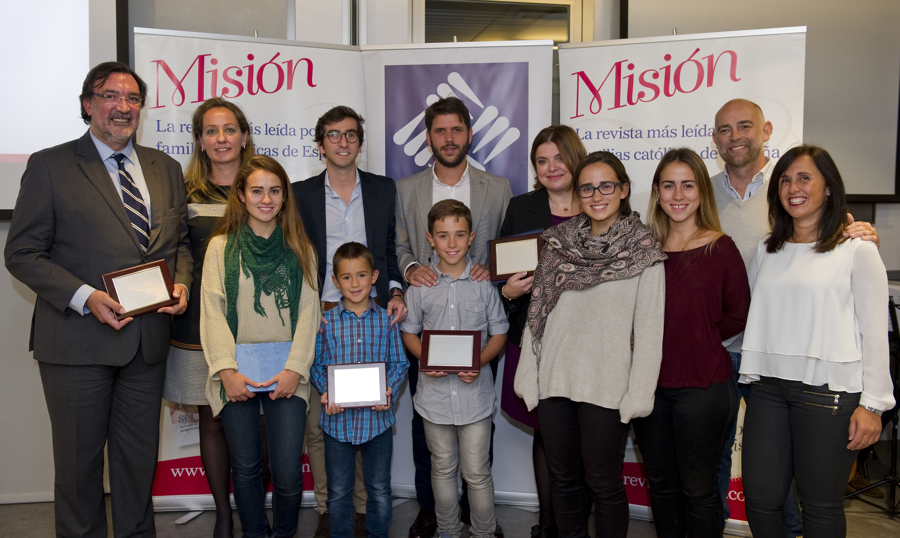 The winners of the 2015 Family Awards