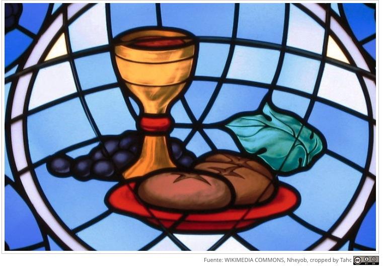 Vitral sobre la Eucaristía