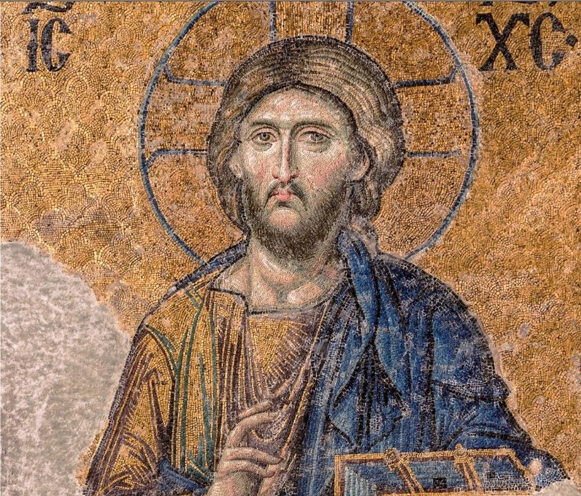 Mosaico con una representación de Jesús de Nazaret, existente en la antigua Iglesia de Santa Sofía (Estambul), fechada cerca de 1280.