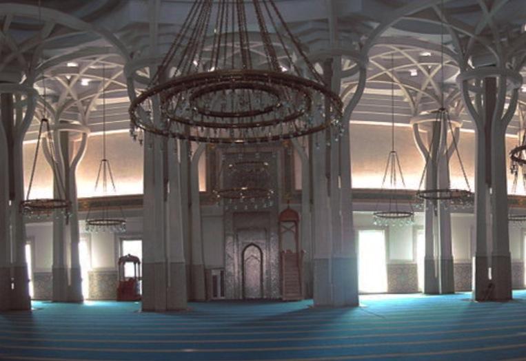 Interior de la Mezquita de Roma